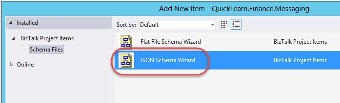 JSON Schemas in BizTalk Server 2013 R2