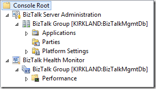 BizTalk Server 2013 R2 Administration Console with Health Monitor